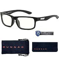 Gunnar Optiks Enigma 电脑眼镜带液体镜片 - 阻挡蓝光、防眩光、*大程度减少数字眼部应变,玛瑙 (ENI-00109)