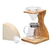 HARIO 支架茶壶套装 玻璃/木制,20 x 15 x 30cm
