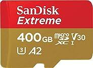 SanDisk 闪迪 Extreme microSDXC UHS-I 存储卡 400GB + 适配器&Rescue Pro Deluxe(适用于智能手机,运动相机和无人机,A2,C10,V30,U3,160MB/s 传输