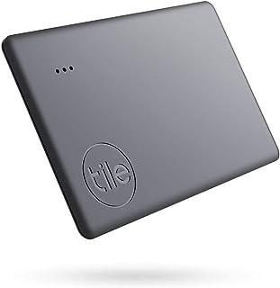 Tile Slim (2020) 蓝牙钥匙追踪器,1 件装,60 米范围,长达 3 年电池续航时间,包括 社区搜索功能,iOS 和 Android App,兼容 Alexa 和 Google Home;黑色