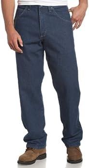 Wrangler Riggs 工作服男士木工牛仔裤 复古靛蓝色 32W x 32L