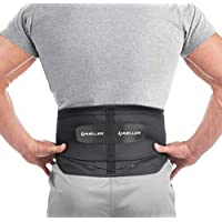 Mueller 255 腰背支撑带 可拆卸垫 黑色 常规(包装可能有所不同)