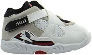 Jordan 8 Retro (TD) 婴儿学步鞋白色/黑色-正红色