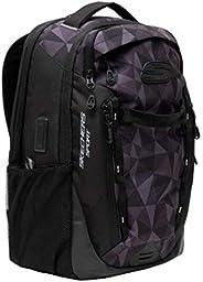 Skechers 斯凯奇 运动背包 带USB端口和笔记本电脑隔层 黑色和灰色