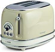 阿里亚特(Ariete)烤面包机155 多士炉 吐司机 家用烤面包机 不锈钢机身 米色