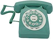 复古有线座机电话,TelPal 经典复古老式时尚电话,适用于家庭和办公室,有线家庭电话礼物老年人(*)