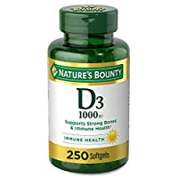 Nature's Bounty 自然之宝 维生素D-1000 IU 快速释放软胶囊250 ea