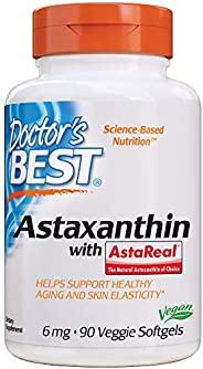 Doctor's Best 虾青素 无麸质 素食 无大豆 6毫克,90粒素