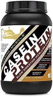 Amazing Muscle 酪蛋白荷兰巧克力 2 磅 - 促进瘦肌肉增益 - 可能有益于*系统 - 支持快速肌肉恢复