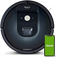 iRobot Roomba 981真空机器人,具有三阶段清洁系统,房间映射,地毯加速模式,两个多层刷,用于硬地板,地毯和动物毛发的WiFi机器人真空吸尘器,应用程序控制