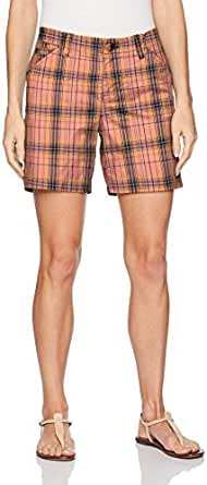 Lee 女式直筒修身量身定制斜纹棉布短裤