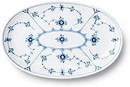 Royal Copenhagen Blue Fluted Plain 椭圆形餐盘 23.5厘米 1016759
