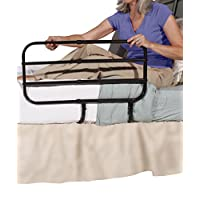 Able Life Bedside Extend-A-Rail - Adjustable Length Home Bed Rail and Stand Suppor Handle + Included Safety Strap