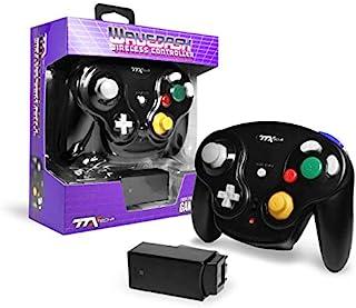 TTX Gamecube Wavedash 无线 2.4 GHz 控制器 黑色 适用于 Nintendo 任天堂 Gamecube 带 Wii 控制台(Nintendo Wii)