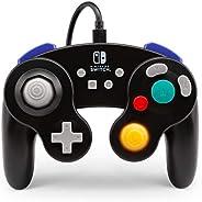 PowerA GameCube风格控制手柄,有线,官方许可,任天堂明星大乱斗,黑色