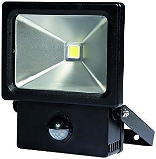 Perel LED 射灯用于室外区域带桃传感器 - 10 W,13.5 x 6.5 x 16 厘米,中性白/黑色,LEDA2001NW-BP