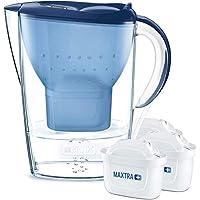 BRITA 碧然德 Marella 滤水壶 初次使用套装,包括 3 个 MAXTRA +滤芯,蓝色 - 冰箱适用款