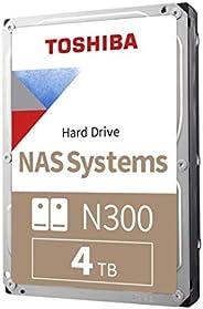 Toshiba 东芝 N300 4TB NAS 3.5英寸 内置硬盘- SATA 6 Gb/s 7200 RPM 128MB (HDWQ140XZSTA)