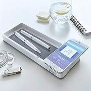 Leitz, QI 无线感应 - 智能手机 - 充电器和墨甲碗, Perl 白色/灰色, WOW Perlweiß/Grau
