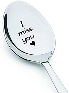 I Miss You Spoon-长距离礼物情人礼物 - 送给妈妈爸爸丈夫妻子雕刻勺子