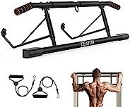 YIOFOO 门口拉杆 带人体工程学手柄 锻炼设备 身体健身系统 无螺丝 训练器 多抓力下巴 锻炼棒 家庭锻炼