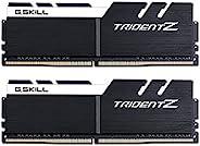 G.SKILL F4-4266C19D-16GTZKW Trident Z 系列 16 GB (8 GB x 2) DDR4 4266 MHz 双通道内存套件 - 黑色/白色