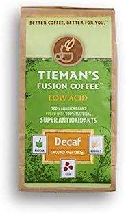 Tieman's Fusion Coffee 低酸脱咖啡因,半深度烘焙,研磨,10 盎司/2
