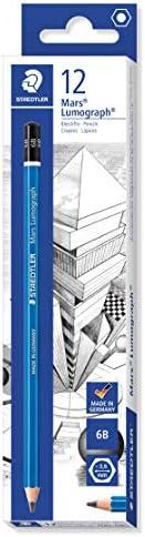 STAEDTLER MARS LUMOGRAPH 铅笔 6B - 一盒 12 个