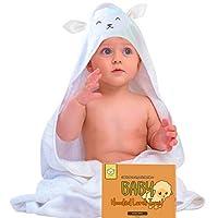 婴儿连帽浴巾 - 带兜帽的婴儿浴巾,适合女孩、婴儿、新生儿男孩、幼儿(后部和小羊) 羊羔