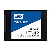"""Western Digital Blue 3D NAND 500GB 内置固态硬盘 - SATA III 6 Gb/s, 2.5""""/7mm, 可达560 MB/s - WDS500G2B0A"""
