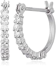D-COLLECTION 钻石 0.2克拉 环形耳坠 DTETAPE2WG 白金