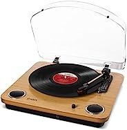 Ion Audio Max LP 三速皮带驱动木制唱片机 内置扬声器 原木 需配变压器