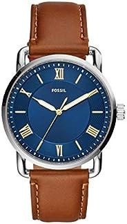 Fossil Copeland 男士石英皮革三指针手表,型号:FS5661
