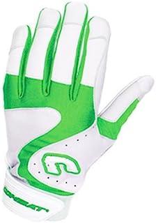 Combat Premium G3 成人棒球垒球击球手套 - 白绿黄色