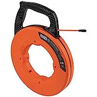 Klein Tools 鱼胶带,多槽玻璃纤维线拉杆,带尼龙头,优化外壳和手柄,15 米 56382
