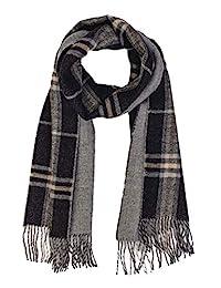 羊驼毛围巾 - * 纯婴儿羊驼毛 - 双面双面对比色围巾