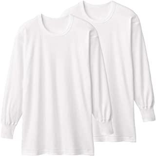 (郡是) Gunze 厚平滑*** 纯棉长袖圆领2件装