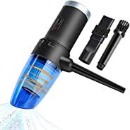 AFMAT 電動空氣除塵器和真空吸塵器,環保可重復使用的 USB 充電空氣吹風機,替換壓縮罐裝空氣噴霧,無繩空氣除塵,用于清潔電腦鍵盤沙發汽車座椅家庭辦公室