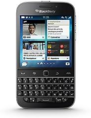 Blackberry 黑莓 Classic 4 g 智能手机解锁(3.5 英寸)显示屏,16 GB,单卡 Blackberry,黑色键盘,AZERTY