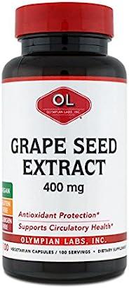 Olympian Labs 葡萄籽提取物 400 毫克,100 粒胶囊 瓶装