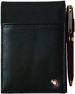 Sheaffer * 全粒面皮革和 1680D 弹道尼龙记事本夹/Jotter 带笔环,前部口袋 12.7 cm x 8.89 cm。 新品