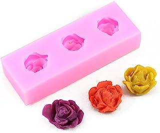 3d 玫瑰巧克力模具硅胶模具蛋糕装饰工具模具花卉纸杯蛋糕模具烘焙蛋糕饼干形巧克力肥皂糖 适用于厨房
