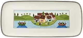 Villeroy & Boch 德国唯宝 Charm and Breakfast 设计 Naif 蛋糕盘,35 x 16厘米,优质瓷器,白色/彩色