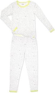 Calvin Klein 女童睡衣長袖褲子 2 件套