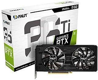 Palit RTX 3060 Ti Dual 8G GDDR6 Ray-Tracing 显卡,4864 核,1410 MHz GPU,1665 MHz Boost,3 x DisplayPort,HDMI V1