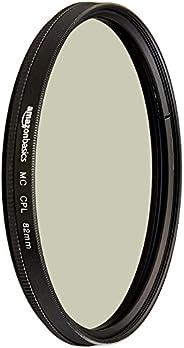 AmazonBasics 亚马逊倍思 圆形偏光相机镜头滤镜 – 82 毫米