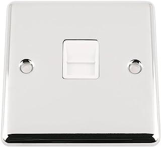 A5 TELCCWHM 经典镀铬抛光大师电话 BT 插头,带白色插头