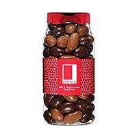 Rita Farhi Milk and Dark Chocolate Covered Brazil Nuts in a Gift Jar, 740g
