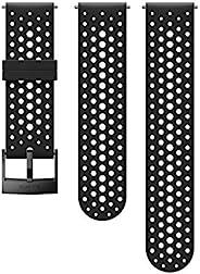 Suunto 手表表带 24毫米 硅胶黑色 运动款 S+M 120-230毫米
