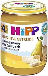 HiPP 喜宝 婴儿流食 适用于4月以上婴儿 梨/香蕉/面包干味,6瓶装(6 x 190g)
